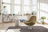 Home interior with bicycle and chair - RBF004548