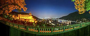 Germany, Baden-Wuerttemberg, Heidelberg, Heidelberg Castle at night - PUF000523