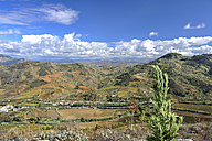 Italy, Sicily, Segesta, view at rolling landscape from amphitheatre - HWOF000119