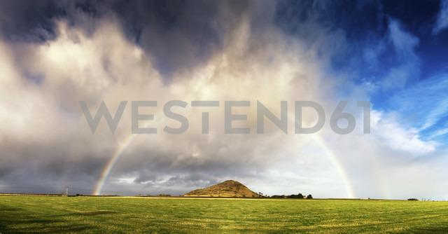 UK, Scotland, East Lothian, rainbow over North Berwick - SMAF000469