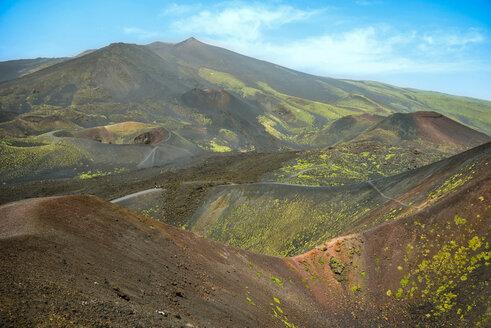 Italy, Sicily, Mount Etna, lava fields - RJF000605