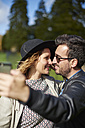 Couple in love taking selfie with smartphone - JCF000051