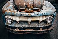 Rusty vintage car, partial view - ELF001741