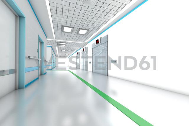 3D rendered illustration, architecture visualization of a modern hospital - SPCF000078