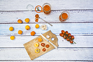 Ingredients for homemade apricot ketchup - LVF004932