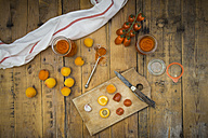Ingredients for homemade apricot ketchup - LVF004935