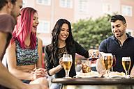 Friends having fun in a bar - JASF000846
