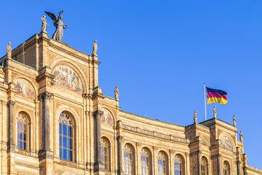 Germany, Munich, part of facade of Maximilianeum - WDF003632