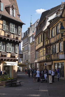 France, Colmar, view to Rue des Boulangers at the old town - EL001745