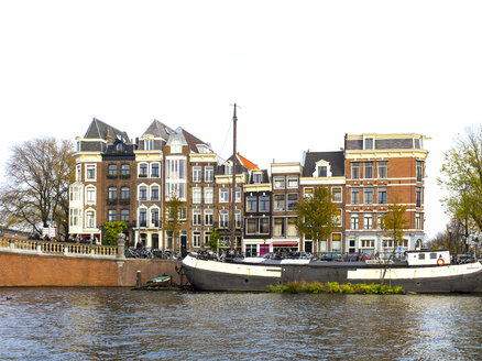 Netherlands, County of Holland, Amsterdam, old ship and canal - JLR000068