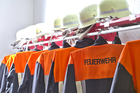 Fire brigade protective clothing in equipment building - MAEF011808