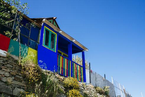 Spain, Andalusia, Tarifa, colorful house - KIJF000435