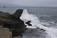 Iceland, surging billow meeting rock - FDF000192