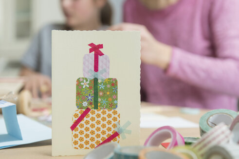 Birthday card with people in background - NHF001525