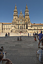 Spain, Santiago de Compostela, The Way of St James, Plaza de Praterias and Cathedral - HWOF000125