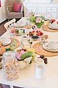 Laid breakfast table - MJF001855