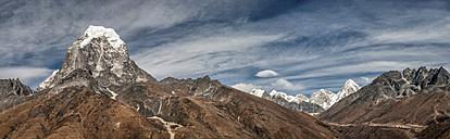 Nepal, Himalaya, Solo Khumbu, Taboche Peak from Ama Dablam South West Ridge - ALRF000616