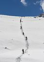 Nepal, Himalaya, Solo Khumbu, Ama Dablam, group of Gurkhas trekking - ALRF000634