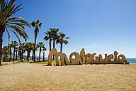 Spain, Andalusia, Malaga, Beach La Malagueta - KIJF000492