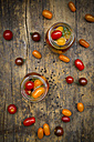 Two glasses of pickled tomatoes - LVF004997