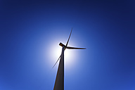 Wind turbine against the sun - SMAF000506