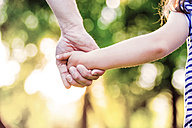 Father holding hand of his little daughter - HAPF000574