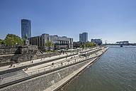 Germany, Cologne, Deutz Rhine riverbank, KoelnTriangle and Hotel Hyatt Regency - PVCF000840