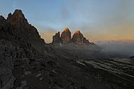 Italy, Sexten Dolomites, Nature Park Tre Cime, Paternkofel and Tre Cime di Lavaredo - MKFF000298