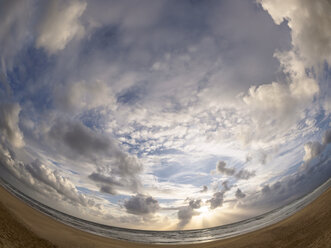France, Contis Plage, Clouds in the evening - LAF001701