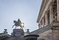 Germany, Berlin, Equestrian statue in front of Old National Gallery - PVCF000847