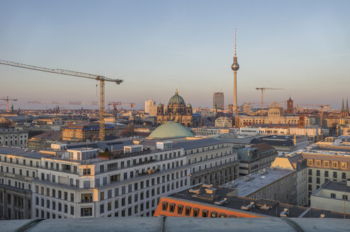 Germany, Berlin, elevated city view at evening twilight - PVCF000856
