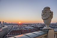 Germany, Berlin, view to the city from French Cathedral at sunset - PVCF000859
