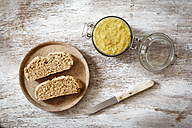 Homemade curry green spelt spread - EVGF003009