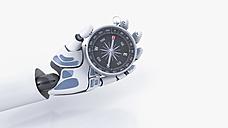 Robot hand holding compass - AHUF000194