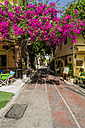Greece, Athens, empty pavement cafe in Plaka district - THA001621