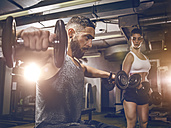 Fitness, couple in gym - MADF001008