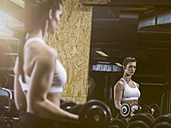 Fitness, woman in gym - MADF001014
