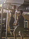 Fitness, couple in gym - MADF001017