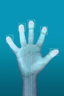Hand on touchscreen - KLRF000421