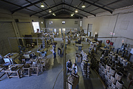South Africa, Cape Town, coopers and wine barrels in cooperage - ZEF009156