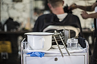 Bowl and gel at the barbershop - ZEF009219