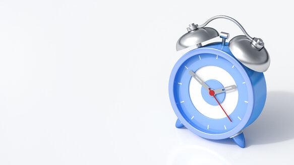 3D Rendering, blue alarm clock - AHUF000208