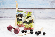 Greek salad in glasses - LVF005154