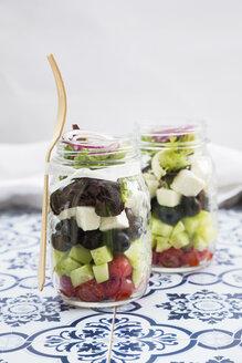 Greek salad in glasses - LVF005157