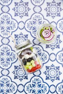 Greek salad in glasses - LVF005160