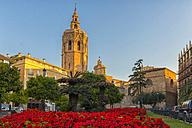 Spain, Valencia, view to Micalet at Placa de la Reina - LOMF000327