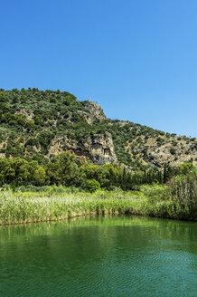 Turkey, Dalyan, Lycian rock tombs of the ancient city Kaunos - THAF001652