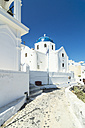 Greece, Santorini, Fira, view to church - THAF001712