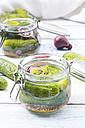 Preserving jar of gherkins and cucumbers - LVF005195