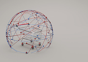 Online Shopping, shopping cart in a sphere of network, 3D Illustration - ALF000710